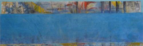 Alles im Fluß. 2011, Leinwand, 40x120