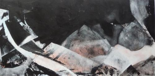 Glaslandschaften 1, 2009, Malplatte, 40x80 (2)