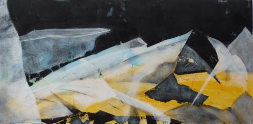 Glaslandschaften 2, 2009, Malplatte, 40x80