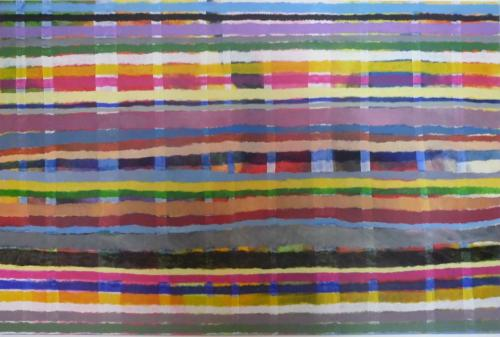 Streifen 3, 2012, Karton, 80x120